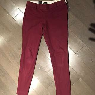 Aritzia Babaton wine slim fit pants size 6