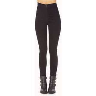 Forever 21 black high waisted jeans