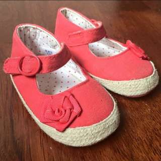 Mothercare Red Flower Shoes
