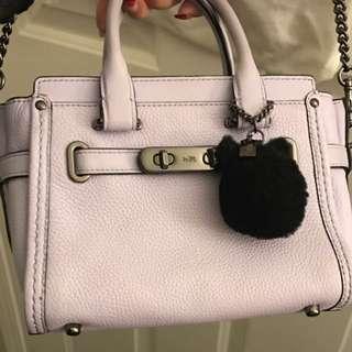 Coach levender mini handbag w/ sling