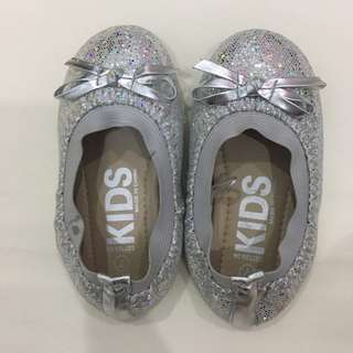 Cotton On Silver Glitter Shoes