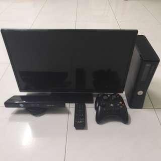 Xbox 360 plus Sharp LCD TV