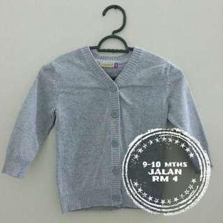 Grey baby cardigan