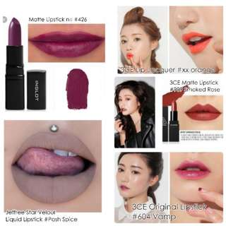 3CE / Jeffree Star Lippies [Authentic]