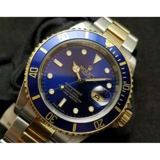 二手 Rolex Two Tone Submariner BLUE