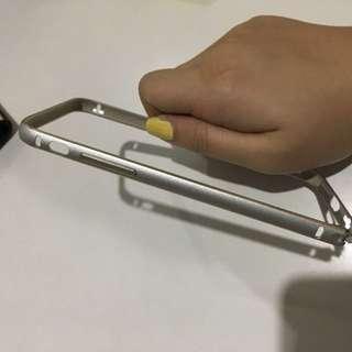 Iphone 6/6s Silver metal bumper case