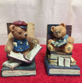 Teddy Bear Figurines Mini Bookends 公仔人物塑像書立