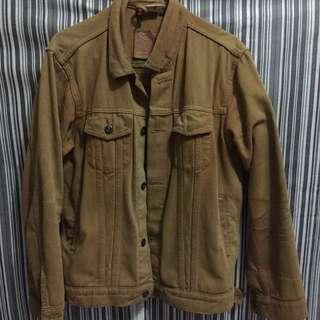 jacket jeans coklat