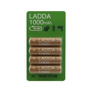 IKEA Ladda Baterai Isi Ulang HR6 AA 1.2V Cokelat (4pcs)