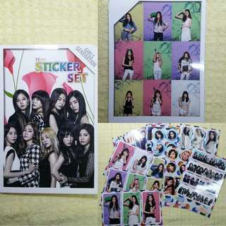 Snsd sticker set 少女時代 九人貼紙set
