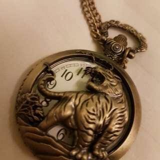 Pocket watch tiger