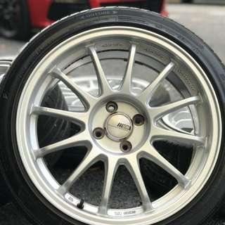 Ssr type f 17 inch sports rim vios tyre 70%