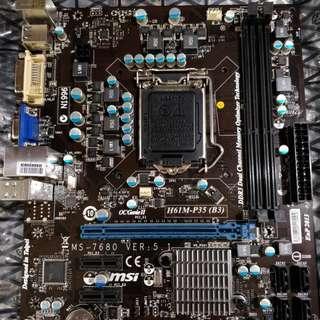 MSI H61M-P35 (B3) Motherboard (LGA 1155)