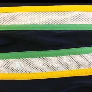 champion 黃白綠條紋 運動褲