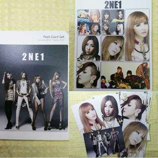2NE1post card set 週邊