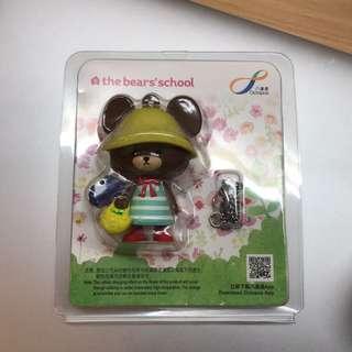 小熊學校 3D八達通配飾 (間條裙Jackie)