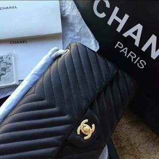 Chanel 2.55💖山形紋羊皮😁