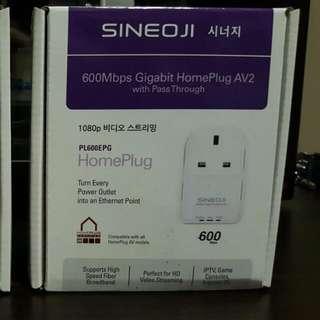 Sineoji Home Plug 600Mpbs (2 × Nos)