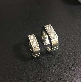 施華洛型格鋼介指 有size stainless steel with cubic zirconia ring (have different sizes)