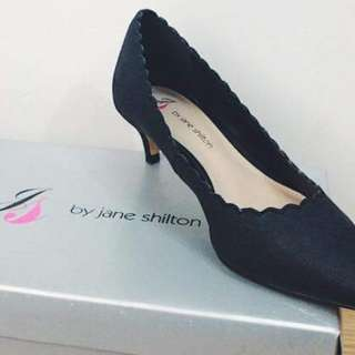 Jane Shilton Black Kitten Heels