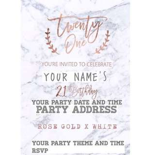 CUSTOMIZED OCCASIONS(BIRTHDAY PARTY, WEDDING,BRIDAL SHOWER) E INVITES -GOLD
