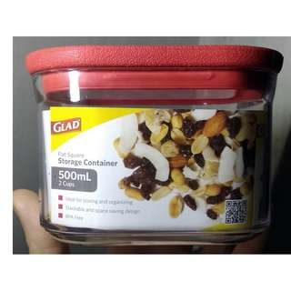 Glad Flat Square Storage Container - 500ml (2 cups)
