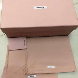 Miu Miu Shoes Box+Dust Bag