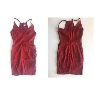 Burgandy Dress Size 8