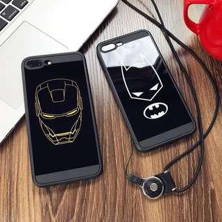 Black Ironman Batman Rubber iPhone Case