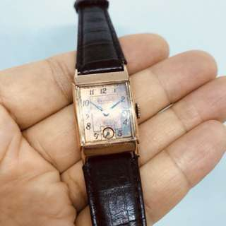 Waltham Premier Art Deco古董包紅金手動手錶
