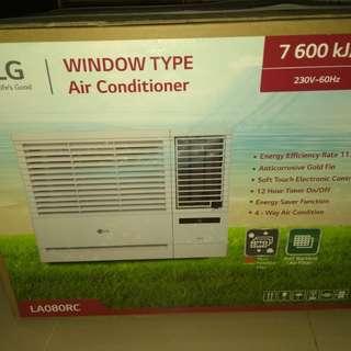 2018 LG .75 window type remote control timer aircon LA080SC