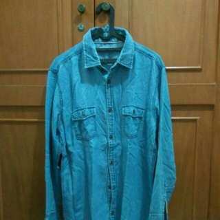 💈Kemeja Jeans - Biru Muda - L