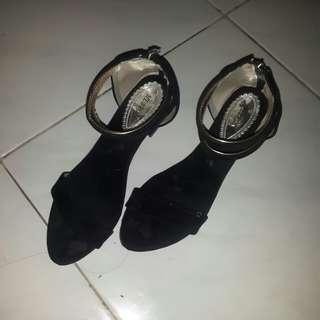 Heels wedges black 5cm