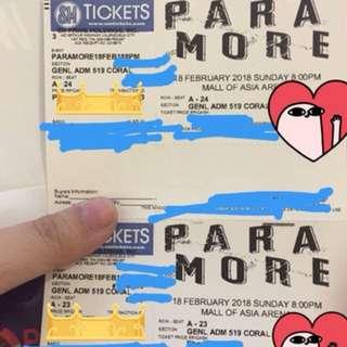 Paramore tour four concert ticket