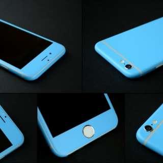 iPhone 6/6S Plus Blue Glitter skin