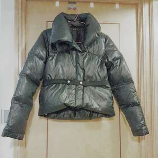 Y3 Matt black crop down jacket 啞黑短羽絨褸 size S/XS