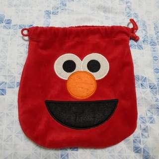 Elmo drawstring pouch