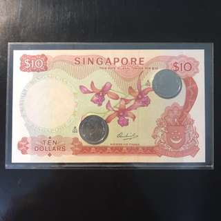 Rare A/100 🌺! 1972 Singapore 🇸🇬 $10 Orchid 🌺 Series HSS Without Seal, Special Prefix A/100 💯!Just For Sharing.