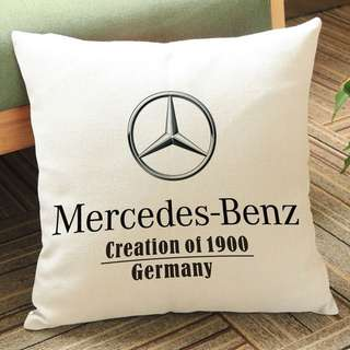 Pillow with Mercedes-Benz logo printed