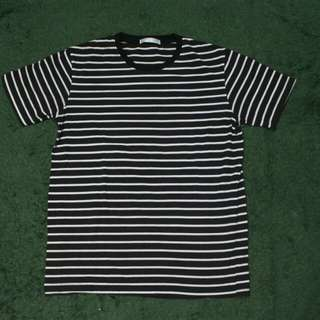 Shirt Black Stripe White