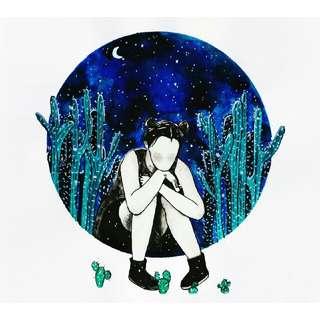 """Maybe I Should Sleep It Off"" Art Print"