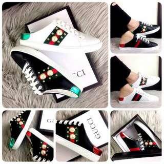 PO 2minggu Gucci ace pearl slip sneaker