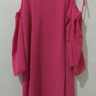 Sabrina Off-Shoulder Dress Pink Fanta