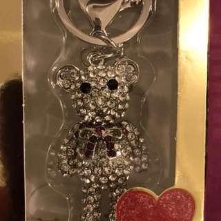 Blinking Teddy Bear Keychains
