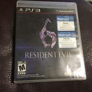 PS3 Resident Evil 6