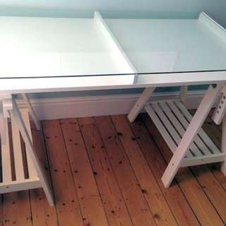 Ikea white desk