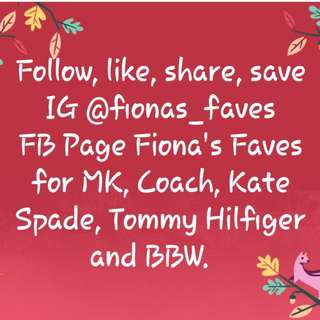 FIONA'S FAVES STORES