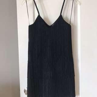 Topshop Fringed Mini Dress