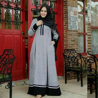 MF - 0118 - Dress Busana Muslim Squery Maxi