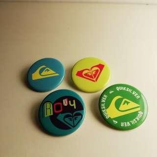 Roxy/Quicksilver badges